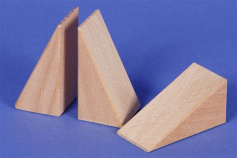 Triangle Blocks triangular wooden blocks wooden triangle blocks 60x30x30 mm