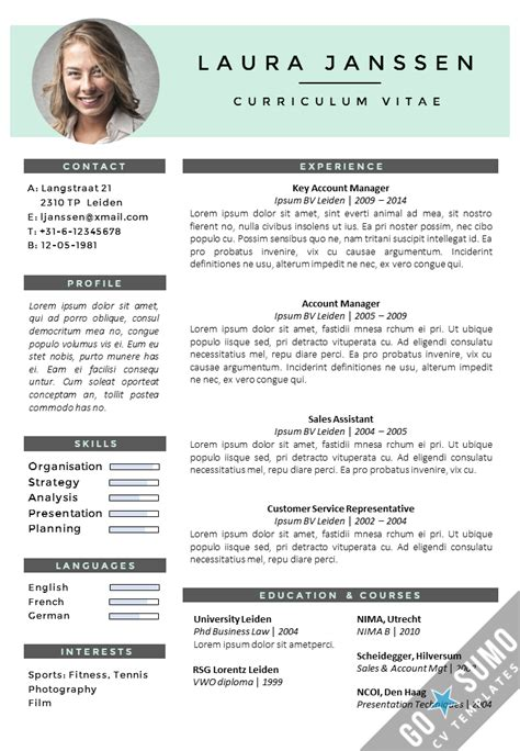 Simple Resume Samples Pdf by Cv Template Milan Go Sumo Cv Template