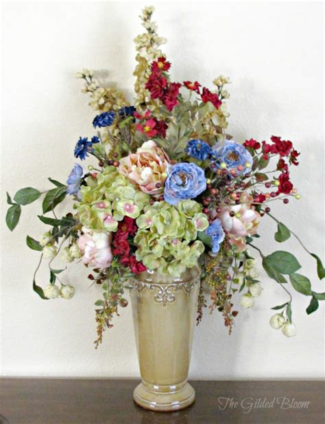 make silk flower arrangements flower arrangement