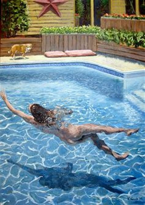 backyard skinny dipping my paintings click on them for huge enlargements on