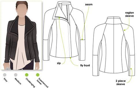 pattern sewing jacket stylearc jett biker jacket