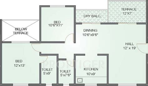 tara floor plan 1256 sq ft 2 bhk 2t apartment for sale in shivtara