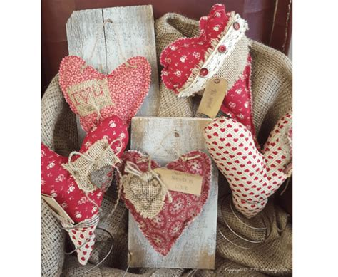 tutorial primitive fabric hearts  bed spring stands