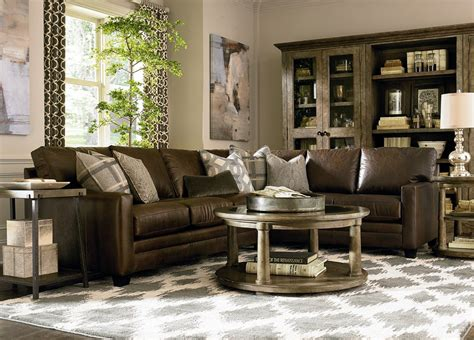 dark brown couch living room decor relaxed modern living bassett furniture living room contemporary with dark brown