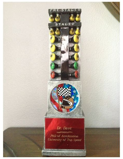 10 quot drag race christmas tree staging light trophy