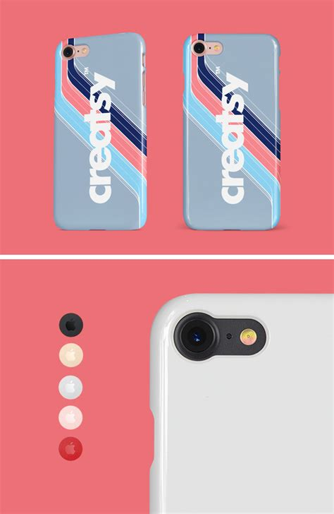 iphone glossy snap case mockup graphicburger