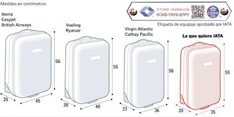 cambian las medidas de la maleta  llevar en cabina