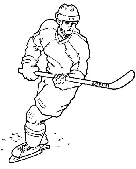 hockey coloring pages nhl free hockey coloring pages for
