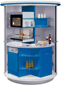 Compact Kitchen Design Revolving Circle Compact Kitchen Idesignarch Interior Design Architecture Interior