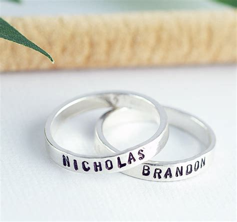 personalized ring personalized stackable mothers ring