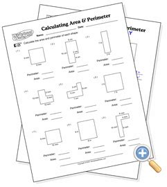 math aids area and perimeter worksheets gcf worksheets