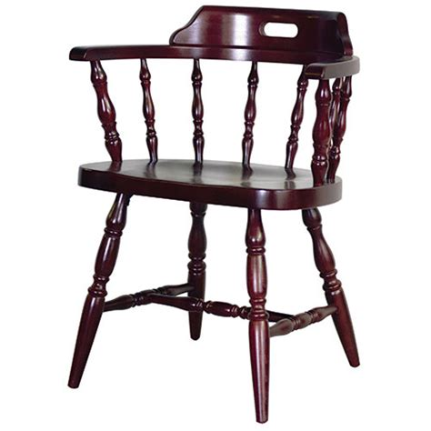 dominion  captains chair wood seat