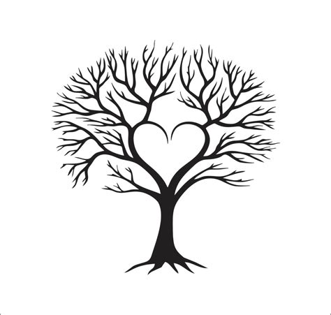tree heart family vector instant digital download cutting file