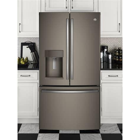 ge 27 8 cu ft french door refrigerator in slate gfe28gmkes ge 36 quot 27 8 cu ft french door refrigerator