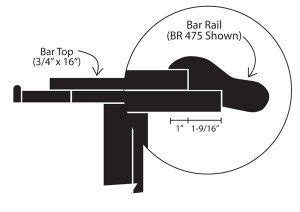 bar top width standard bar dimensions specifications diy