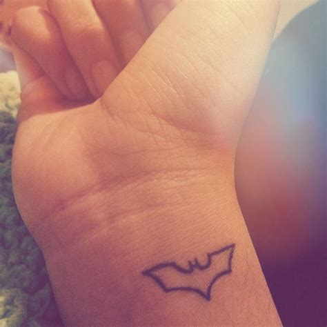 batman logo tattoo wrist my small batman tattoo tattoos pinterest batman