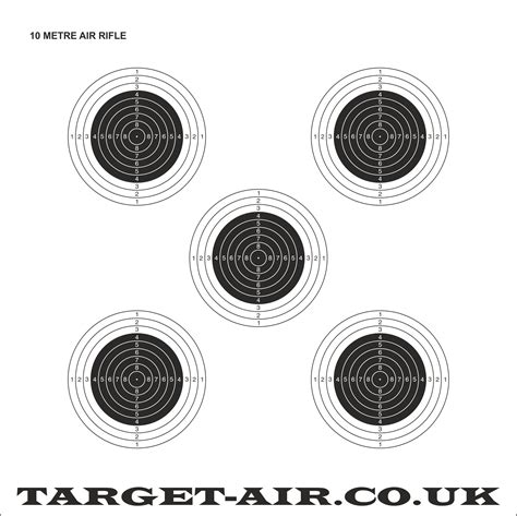 printable targets airguns 10 metre air rifle issf nsra practice shooting targets