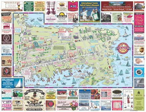 map of tourist attractions 2 rhode island map tourist attractions travelsfinders