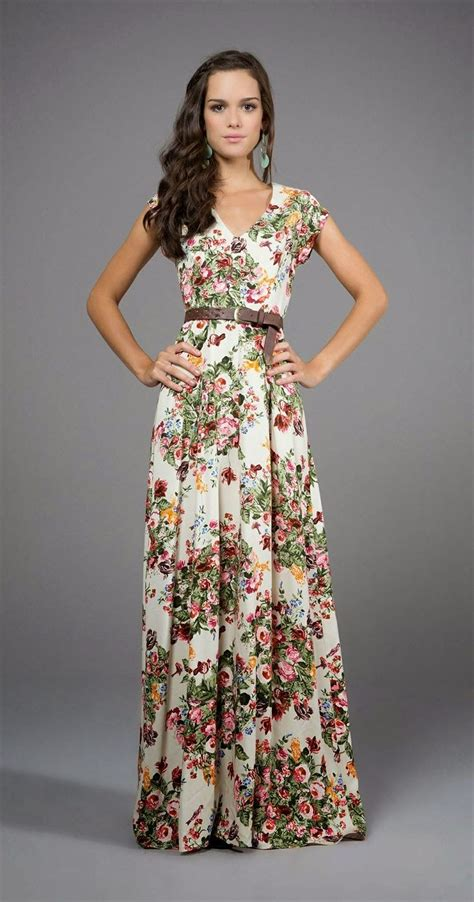 Teresa Flowery Maxi Dress estado floral flower pattern click for more my
