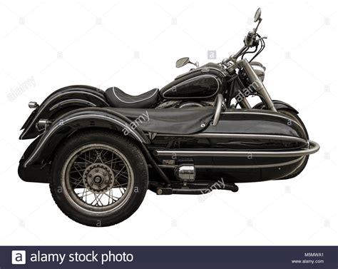 Oldtimer Motorrad Beiwagen by Motorcycle Sidecar Black Vintage Stockfotos Motorcycle