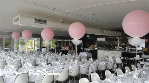 Ceiling Decoration by Balloon Table Centrepieces And Bouquets Party