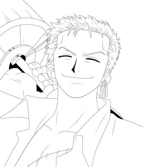 Drawing Zoro by Roronoa Zoro Lineart By Scarletft On Deviantart
