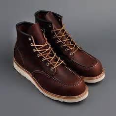 Sepatu Cevany Moc Leather Originalsepatukulitsepatukerjasepatuforma 1 wing 8890 classic 6 quot moc toe boots in charcoal and tough leather wing