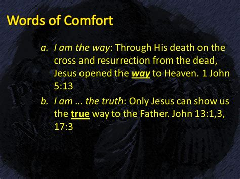 comforting words for death of father panorama of the new testament ppt video online download