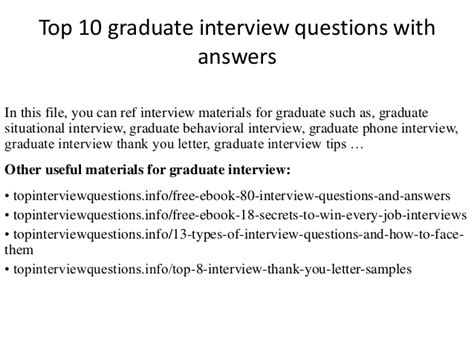 Tell Me About Yourself Mba Graduate by Top 10 Graduate Questions With Answers