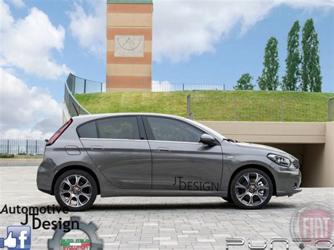 fiat punto 2017 fiat punto surfaced with rendered images