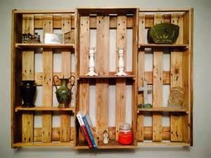 Free Bookcase Headboard Plans Diy Pallet Wall Hanging Shelf Decorative Shelving Unit