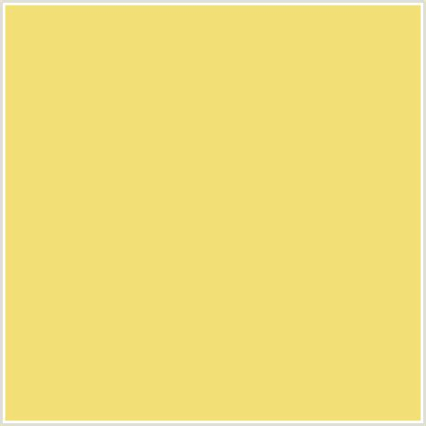 f2e077 hex color rgb 242 224 119 golden sand yellow