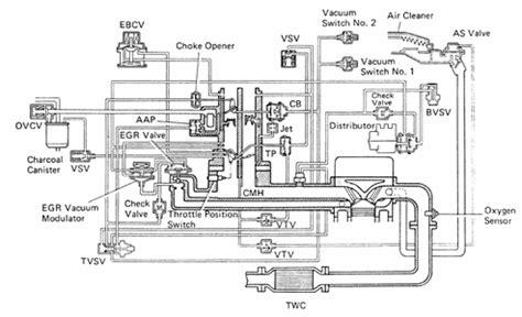 1989 Toyota Corolla Carburetor Diagram Need Vacuum Hoses Diagrams 1989 Toyota Corolla Solved