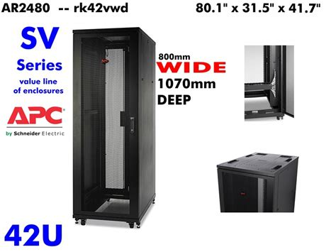 Hagane 19 Standing Rack Server 42u Depth 800mm rk42vwd apc netshelter ar2480 sv 42u rack server enclosure wide 1070mm withkey