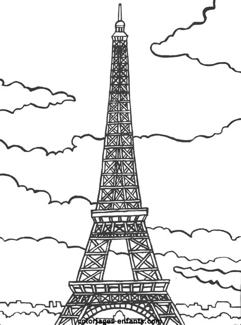 eiffel tower coloring pages bestofcoloring com