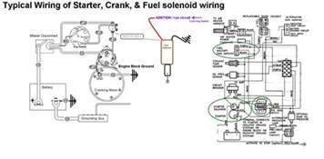 starter crank amp fuel shutoff solenoid wiring seaboard