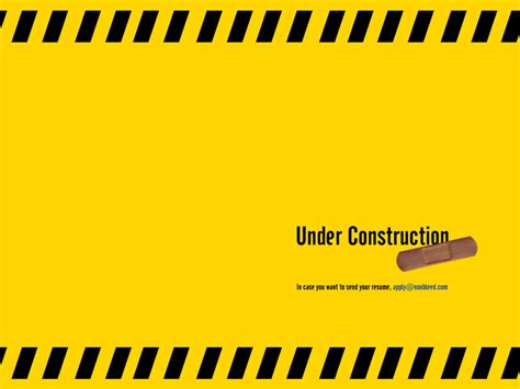 stunning examples of under construction pages