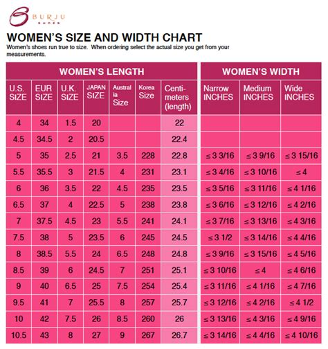 shoe size chart width and length 21 wonderful men and women shoes chart playzoa com