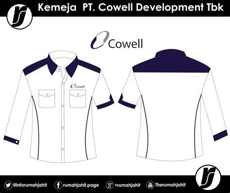 Kemeja Bordir Bunga Lengan Pendek 3 Warna Navy White kemeja pt cowell development tbk mitra pengadaan