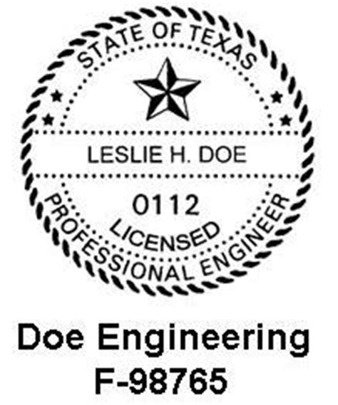 design engineer license firm name and number on engineering work