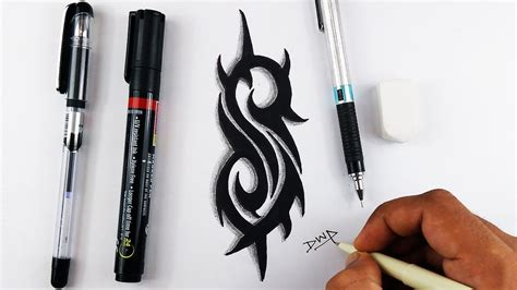 how to draw slipknot logo tattoo drawing youtube