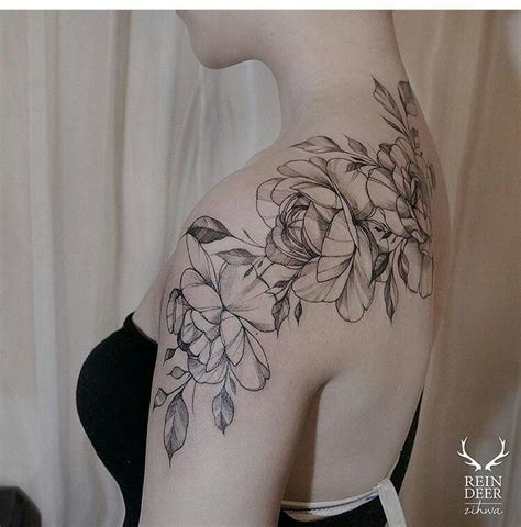 flower tattoo on shoulder pinterest 26 best shoulder and upper arm flower tattoos for women