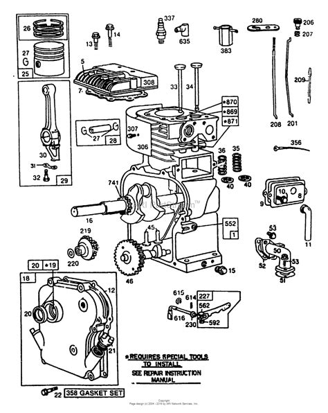 parts diagram for briggs stratton engine briggs and stratton power products 9084 0 580 327040