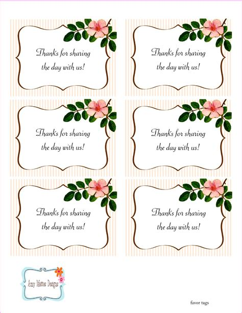 printable engagement tags free printable wedding favor tags the beautiful wedding