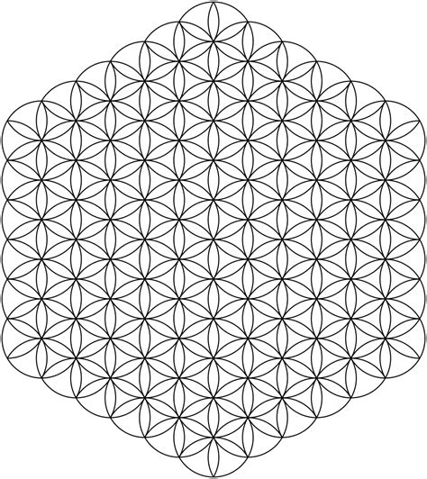 geometric pattern wiki file flower of life 91circles36arcs svg wikipedia
