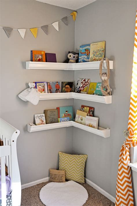 How To Style Your Corner Shelving Systems Bookshelves For Nursery
