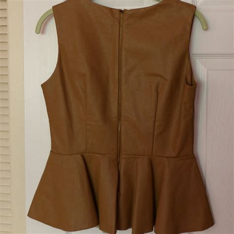 72 olivaceous tops olivaceous camel colored peplum