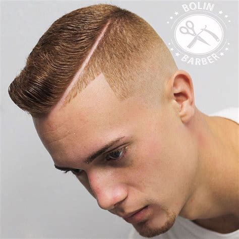 mens hard part hairstyle mens hard part haircut hairstylegalleries com