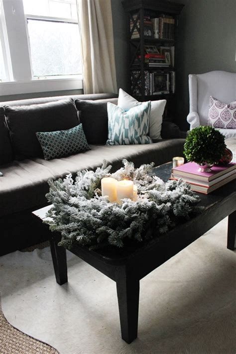 how to decorate a coffee table for christmas stunning centerpiece ideas for coffee tables interior design