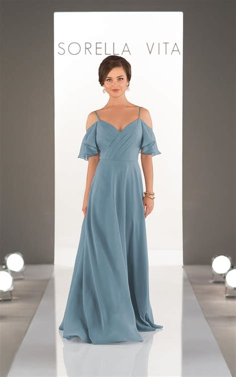 bridesmaid dresses romantic chiffon boho bridesmaid gown